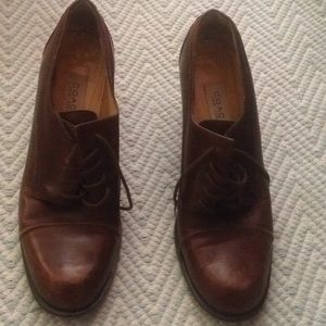 Leather Coach shoes. Made in Italy